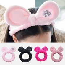 New Fashion Cute Big Ear for Women Headband Soft Comfortable Hair band Accessories Girls Elastic Holder Wash Face