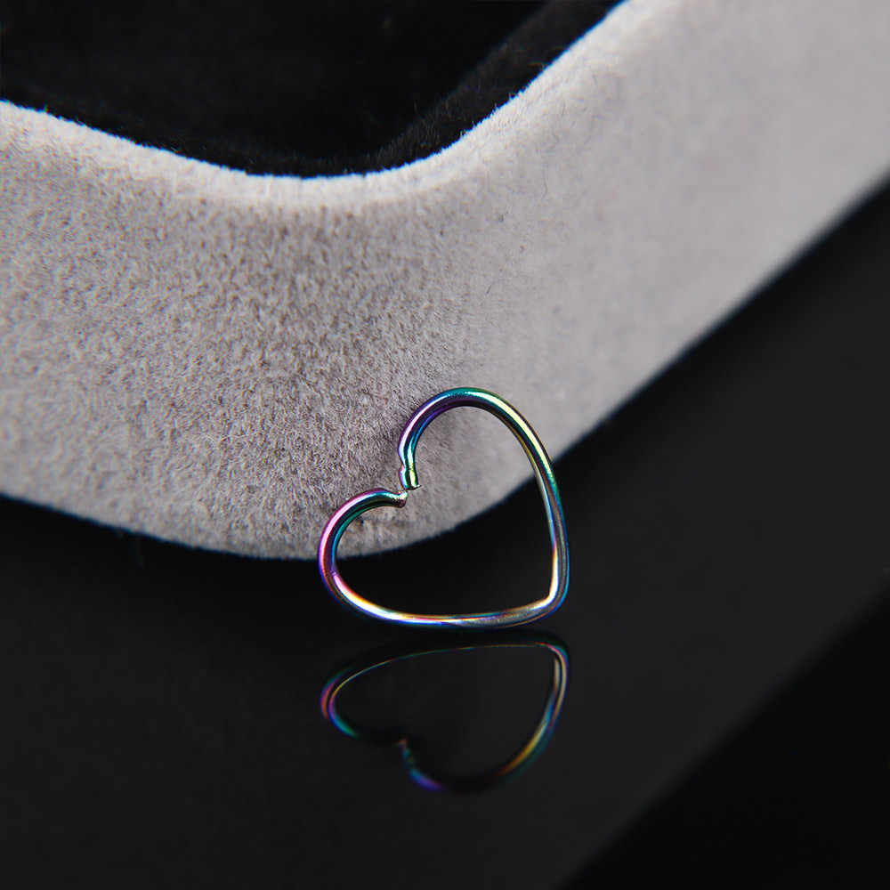 2pcs เหล็กผ่าตัดเครื่องประดับ Daith Ear Stud กระดูกอ่อน Tragus Piercing Hoop Lip จมูกแหวนอินเทรนด์ผู้หญิง Punk เครื่องประดับ