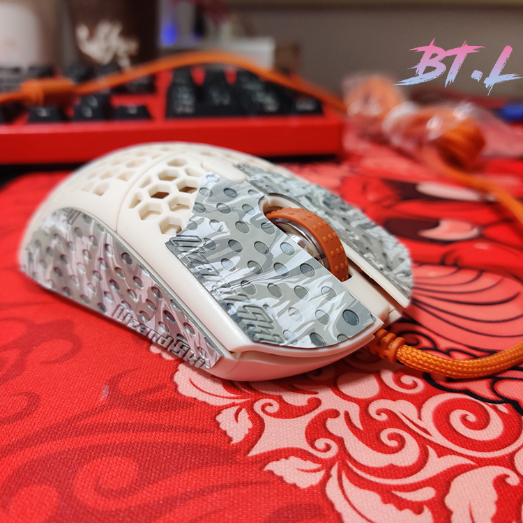 Handmade Genuine Leather Lizard Skin Mouse Stickers For Finalmouse Ultralight 2 Mini Non Slip Sweat High Quality Without Mouse
