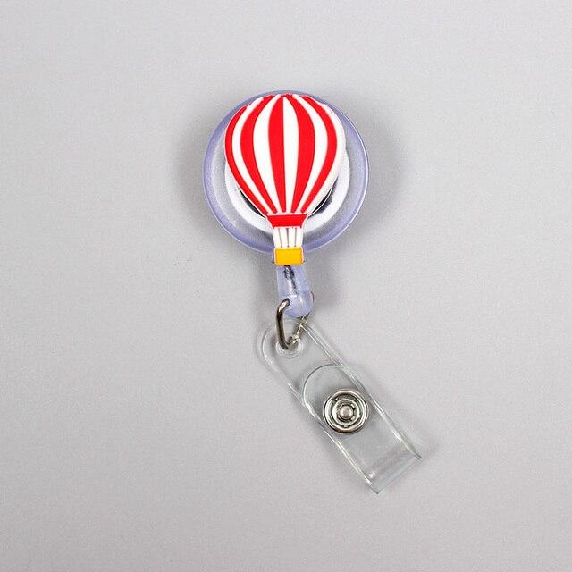 Nouveau dessin animé 60cm Silicone ballon à Air chaud rétractable Badge bobine étudiant infirmière exposition Enfermera nom carte didentité coffre