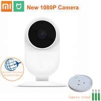 Original Xiaomi mi jia 1080P inteligente ip Webcam 130 grado 2,4G Wi-Fi de infrarrojos de visión nocturna 10m + NAS mi c altavoz Home Cam