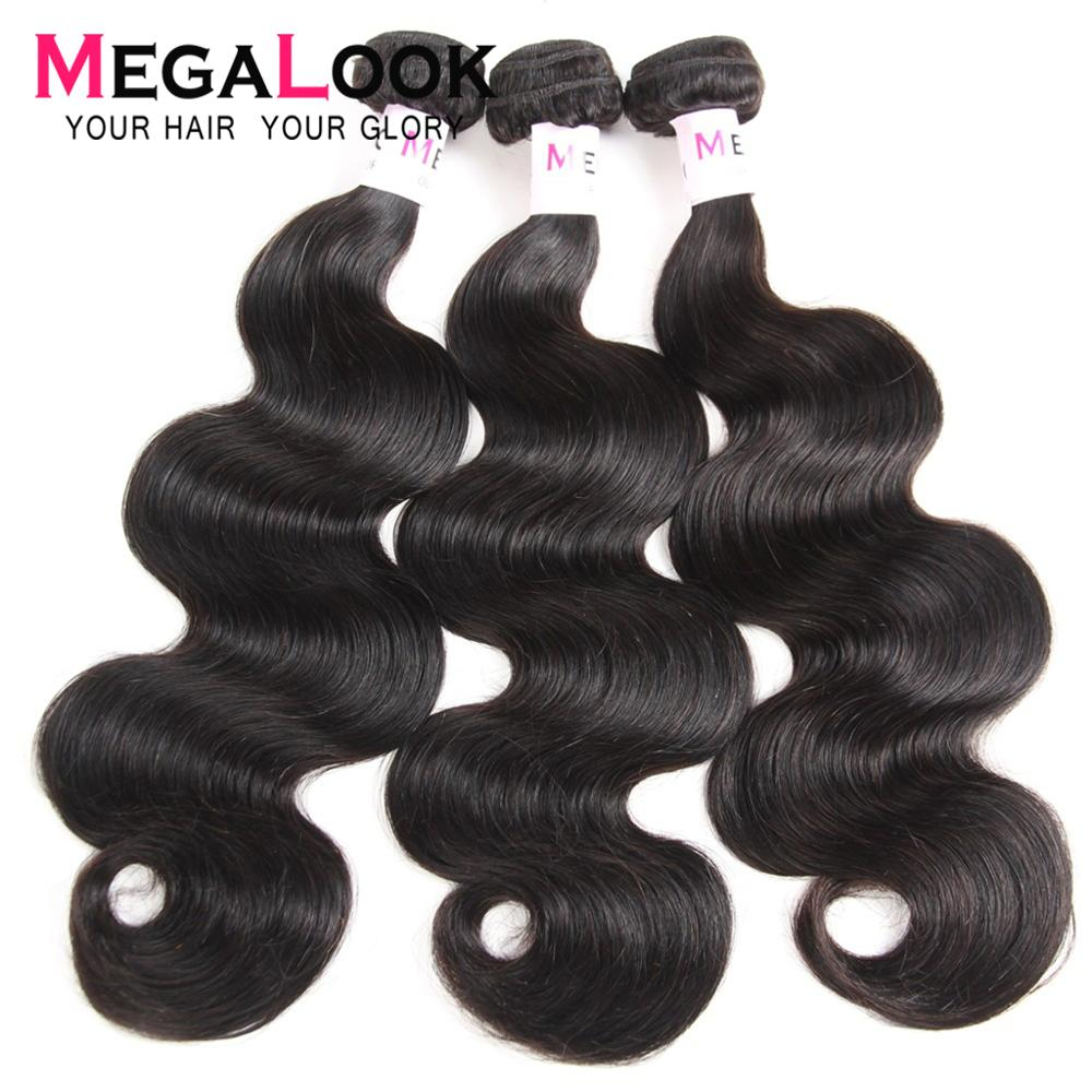 Body Wave Bundles Peruvian Hair Bundles 30 Inch Bundles 28 40 3 4 Bundle Deals Remy Hair Human Bundles Megalook Hair