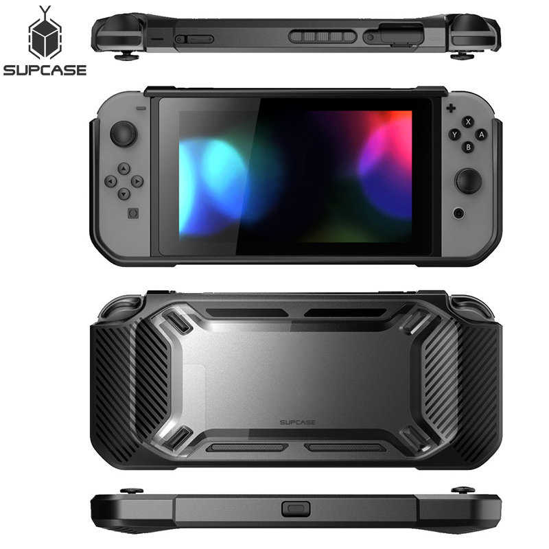 SUPCASE Case Voor Nintendo Switch 2017 release Zware Slanke Rubberen Snap on Hard Cover, Let op: dit is SUPCASE Merk