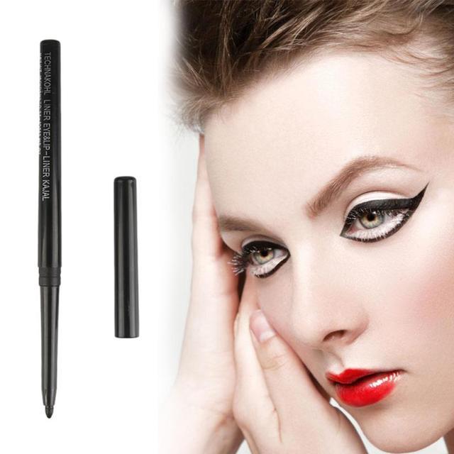 Black Long Lasting Eye Liner Pencil Automatic Rotating Waterproof Pen Precision Long-lasting  Crayon Eyes Marker Pen TSLM1 1