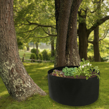 Fabric raised garden bed round pla