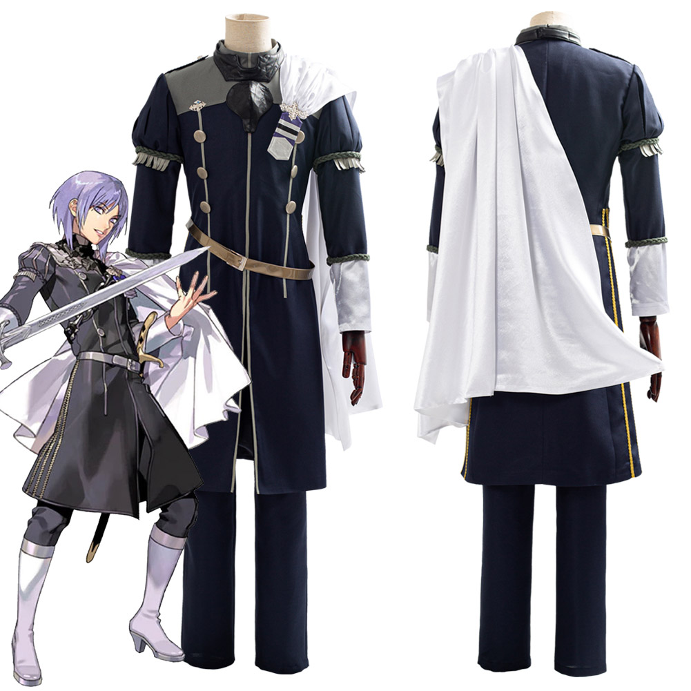 Fire Emblem: Three Houses Cindered Shadows Yuri Cosplay Costume Halloween Carnival Party Costumes Men