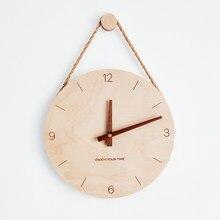 Horloge murale nordique en bois 3D, Design moderne, horloge numérique, pour salon, maison, décoration, cadeaux de noël