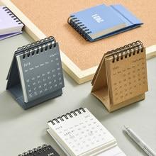2021 Mini calendrier de bureau mignon quotidien annuel calendrier Simple Table planificateur Agenda organisateur bureau fournitures scolaires nouvelle arrivée