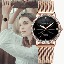 Women Watches CRRJU Women Fashion Watch