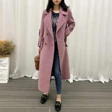 Winter Brand Wool Coat Female Autumn Clothes 2019 Korean Elegant Double Breasted X-Long Jacket Casaco Feminino Hiver 8809(China)