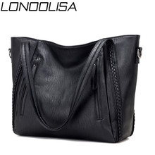 Luksusowe damskie miękkie skórzane torebki projektant marki o dużej pojemności tkane torby na ramię damskie casualowe torby tote czarne torby podróżne