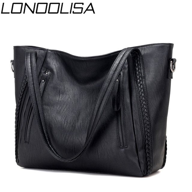 Luxury Womens Soft Leather Handbags Designer Brand Large Capacity Woven Shoulder Bags Ladies Casual Totes Black Travel Bags