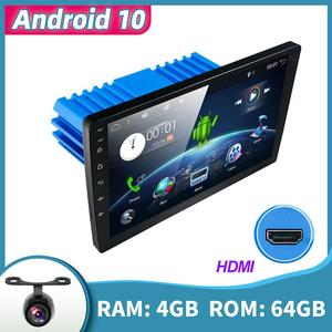1 din/2 din DSP Android 10 Multimedia DVD Video Player GPS Navigation Car Radio Stereo Wifi BT HDMI Carplay OBD DAB SWC 4G+64G