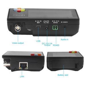 Image 3 - 3,5 Zoll H.265 4K IP CCTV Tester Monitor IP AHD CVI TVI IP Kamera Tester ONVIF PTZ WIFI 12V1A ausgang Drahtlose WIFI video