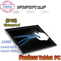 10/15/17/21 5 pulgadas sin ventilador Tablet Industrial PC Intel i7 4500U J1900 todo en una computadora de IP65 PCAP pantalla táctil sensible Win10
