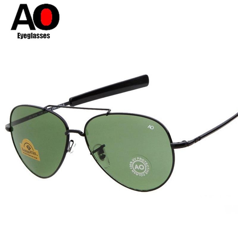 NODARE MILITAR Do Exército Estilo Aviação AO MacArthur Geral óculos de Sol Americanos Homens Óculos de Sol Oculos de sol óculos de Lente de Vidro Óptico