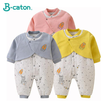 Baby Clothes Newborn Conjoined Cotton Padded 2019 New Winter Thickening Cartoon Lovely Design Warm And Comfortable 0-2T