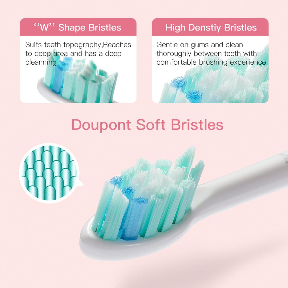 Electric Toothbrush Apiyoo P7 Rechargeable Sonic Toothbrush 5 Mode Adult Timer IPX7 Waterproof Automatic Ultrasonic Teeth Brush