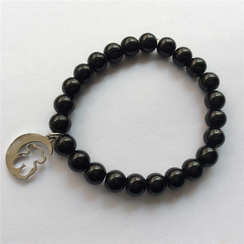 bear bracelet stainless steel bear bracelet beads bracelet mama gift Jewelry Women Fashion Animal Party Accessories