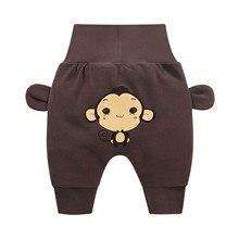 От 3 до 3 лет + одежда + для + новорожденных + малыш + леггинсы + мультфильм + принт + высокая талия + брюки + гарем + брюки + для + мальчика + девочки + ребенок + живот + попа + брюки + E1