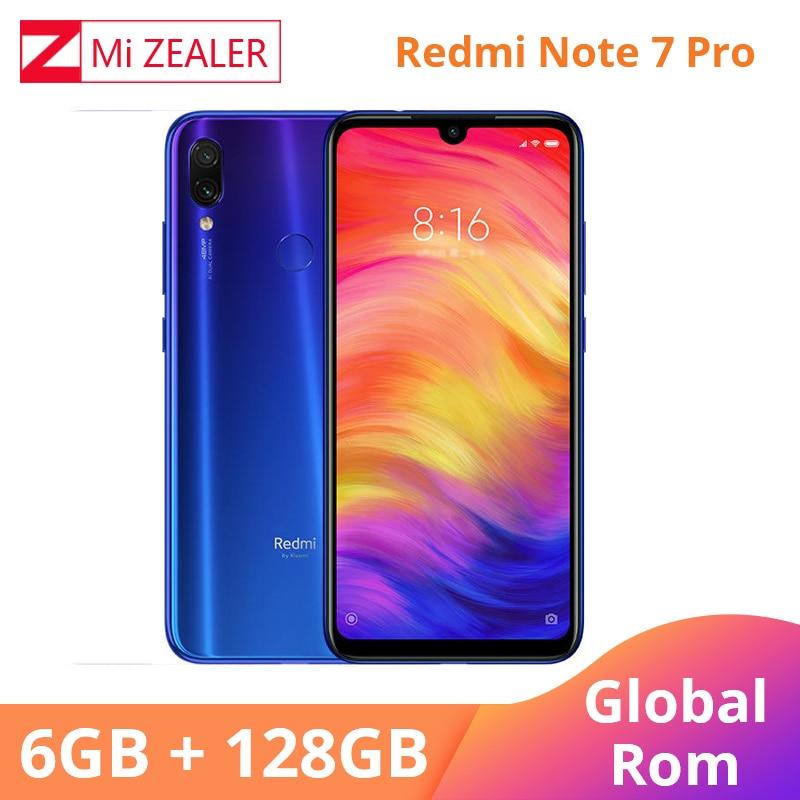 Xiaomi originais Redmi Nota Telemóvel 7 Pro 6GB 128GB 6.3 ''4000 mAh 13MP 48MP AI Câmera Inteligente