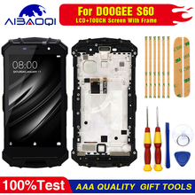 Touch Screen LCD Screen LCD Display For Doogee S60 S60 Lite Digitizer Assembly With Frame Replacement Parts+Repair Tool