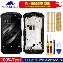 Touchscreen LCD Screen LCD Display Für Doogee S60 S60 Lite Digitizer Montage Mit Rahmen Ersatz Teile + Reparatur Werkzeug