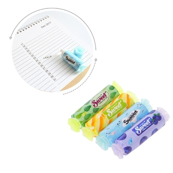 1Pc Lovely Kawaii Candy Correction Tape White Out Roller Tool Stationery Office School Supply Gift 5m candy correction tape white out roller tool school office stationery