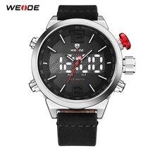 WEIDE Sport Men Luxury Brand digital Quartz Movement Leather Bracelet belt Clock Male Military Fashion Wristwatches Dropshipping