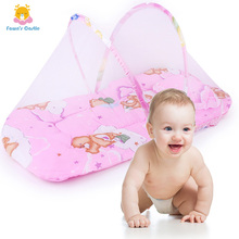 Portable Folding Baby Crib Mosquito Net Polyester Newborn Sleep Bed Travel Bed Netting Play Tent Children