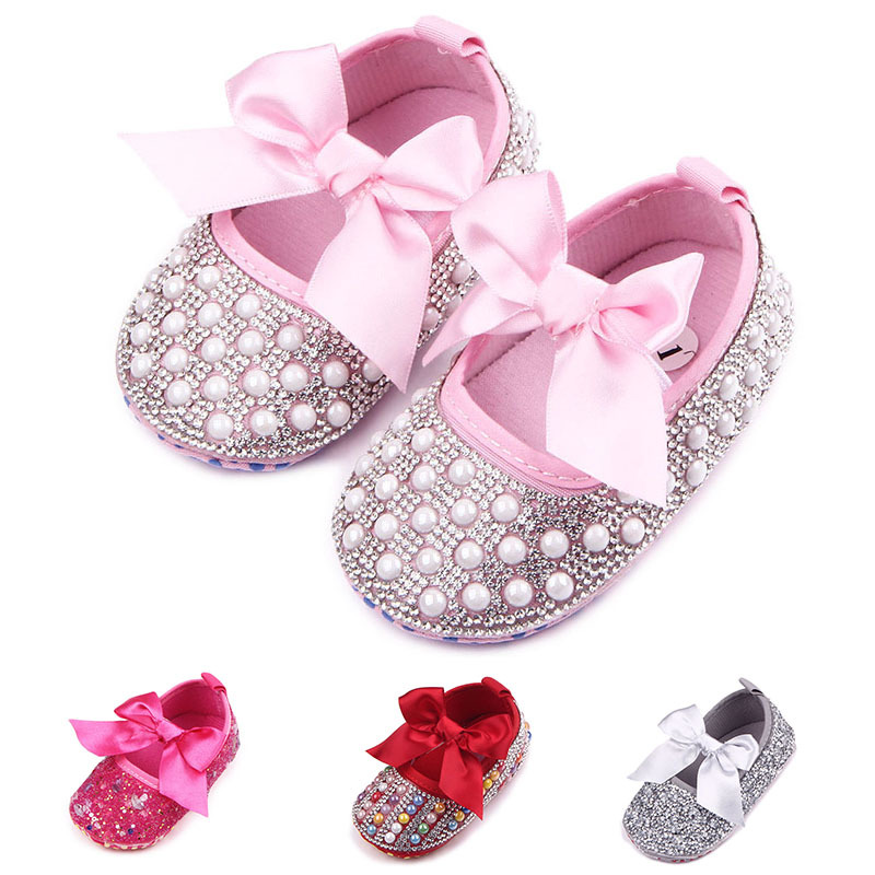 Spring And Autumn New Diamond Baby Toddler Shoes Foreign Trade Baby Shoes Bow Toddler ShoesZQ085