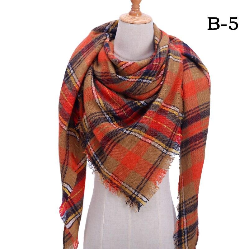 Женский зимний шарф в ретро стиле, кашемировые вязаные пашмины шали, женские мягкие треугольные шарфы, бандана, теплое одеяло, новинка - Цвет: bb5
