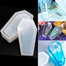 Coffin Storage Box Diy Zombie Dark Mold Crystal Resin Mold Mirror Vampire Storage Box Resin Mold