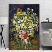 Artist Van Gogh Bouquet of Flowers in a Vase Oil Painting on Canvas Posters and Prints Cuadros Wall Art Pictures For Living Room van gogh starry night oil painting on canvas posters and prints cuadros wall art decorative pictures for living room home decor