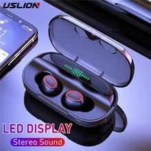 TWS Bluetooth 5.0 kulaklık ile şarj kutusu kablosuz kulaklık 8D Stereo spor su geçirmez kulaklıklar kulaklıklar mikrofon ile