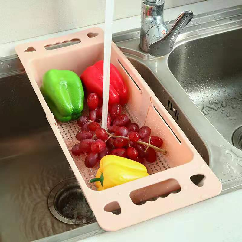 Adjustable Drain Basket Fruit And Vegetable DVrain BDasketB ISimple And Convenient To Use
