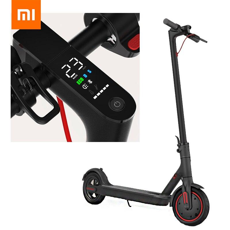 Xiaomi Mijia M365/Pro Scooter pliable électrique intelligent ultraléger BMS Double système de freinage charge 2 roues 30 km/45 km kilométrage Scooter