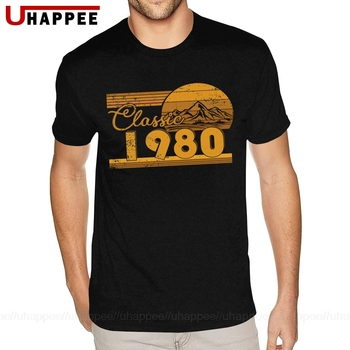 Cool 40th Birthday Classic 1980 40 Year Awesome T Shirts Men's Fashion Summer Short Sleeves Graphic Tshirt Male 80s Clothing - discount item  43% OFF Tops & Tees
