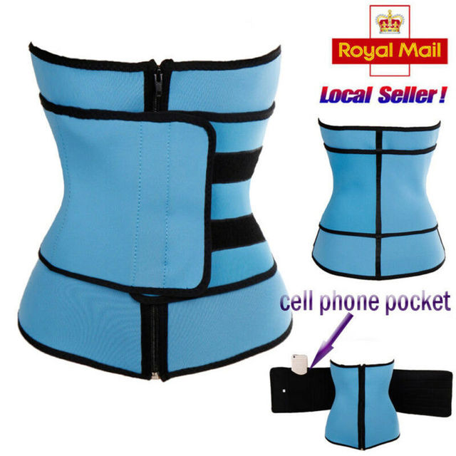 Waist Trainer Zipper Hook Body Shaper Men Women Trimmer Tummy Slimming Belt Shapewear Sport Unisex Corset S-3XL 2