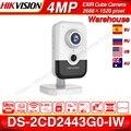 Hikvision DS-2CD2443G0-IW Wi-Fi камера видеонаблюдения 4MP ИК фиксированный куб Беспроводная ip-камера двухсторонняя аудио H.265 +