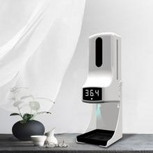 Novo k9 pro automático dispensador de sabão líquido sensor inteligente sem contato termômetro infravermelho digital mãos lavagem desinfetante livre
