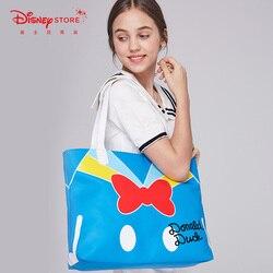 Dibujo animado de Donald Duck bolso de gran capacidad bolso de mano para mujer bolso de hombro para chica regalos de Festival