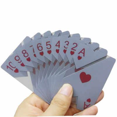 Nouveau commerce extérieur nouveau mat PVC plastique plastique Poker étanche Transparent jeu de Poker créatif