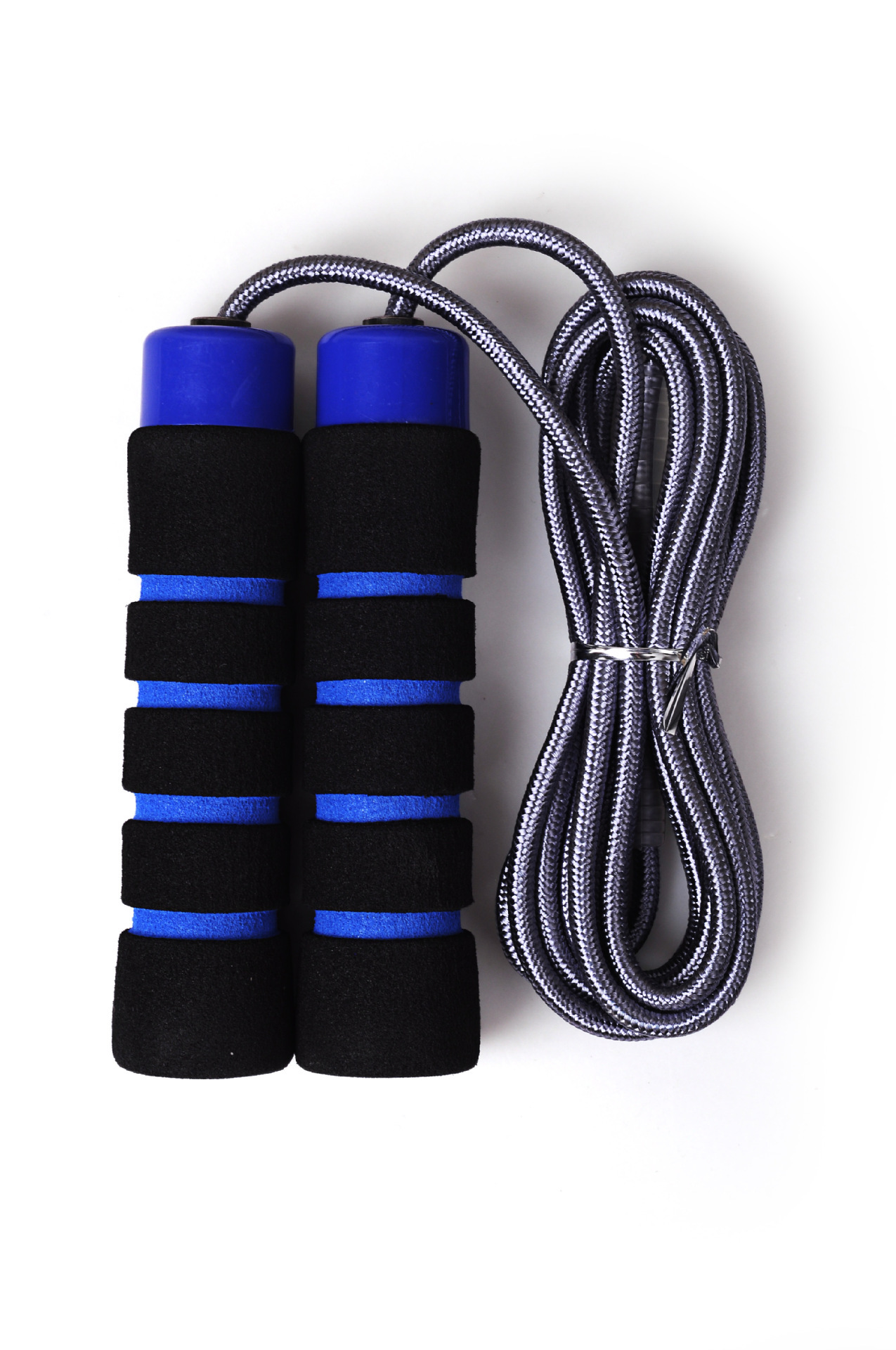 [Wei Masi] Double Layer Weaving Fitness Jump Rope Foam Handle Jump Rope Manufacturers Fitness Jump Rope Wholesale