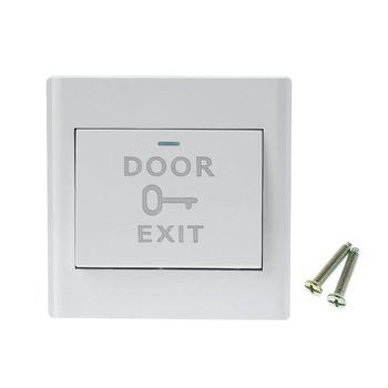 White Plastic Door Exit Button Electronic Door Lock Sensor Release Push Switch for Security Access Control System Supplies eseye no com gate door exit button exit switch for door access control system door push exit door release button switch