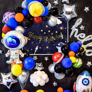Decorations Adult Birthday Party New Space Birthday Theme Set Star Series Rocket Aluminum Balloon children's Birthday Activities