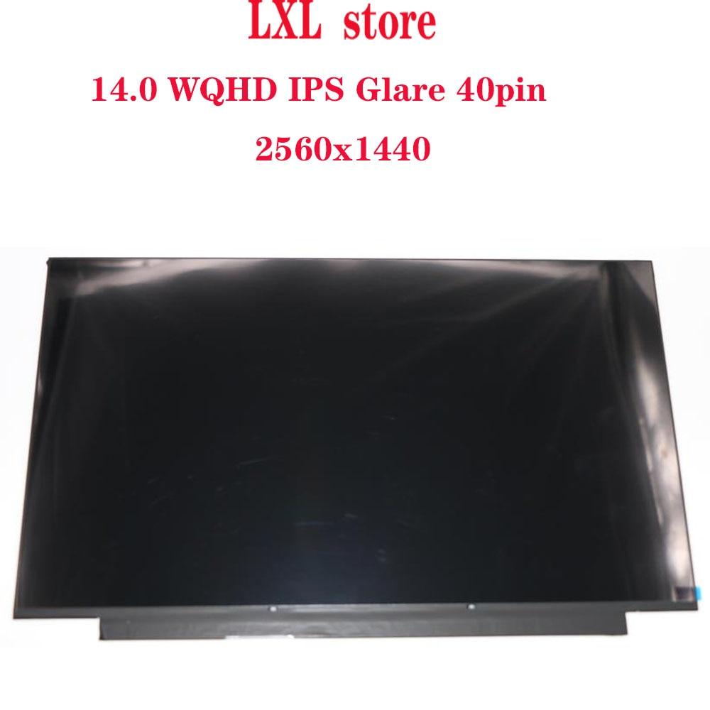 T490 LCD Screen For Thinkpad 20N2 20N3 LCD Panel 14.02560*1440  IPS Glare 40pin LPM140M420  B140QAN02.0  00NY679 01YU646 00NY680