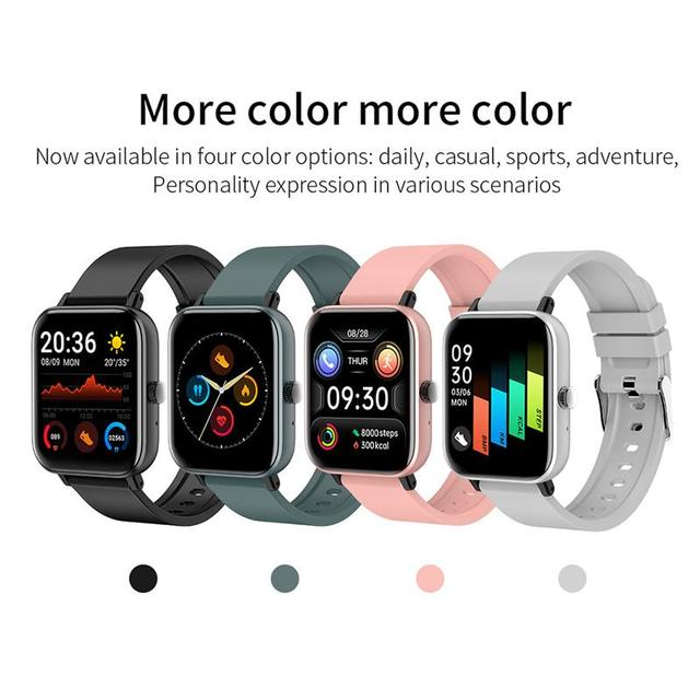 New Smart Watch Electronic Sports HD Touch Bluetooth Call Bracelet with Heart Rate Detector, Pink/Black/Silver Gray/Blue 2