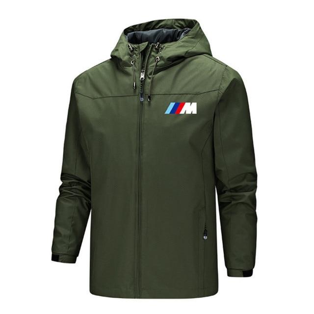 Bmw M Power Jacket Men Lightweight Hooded Zipper Waterproof Coat Windproof Warm Solid Color Fashion Male Coat Outdoor Sportswear 5