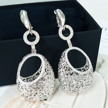 Cubic Zirconia Gold Drop Earrings Long Earrings For Women High Quality New Trendy Jewelry  Accessories For Young Girl Sexy